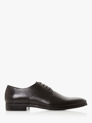 Dune Sprints Leather Derby Shoes, Black