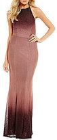 Xtraordinary Halter-Neck Ombre Long Dress