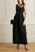 Preen by Thornton Bregazzi - Norina Cutout Taffeta Maxi Dress - Black