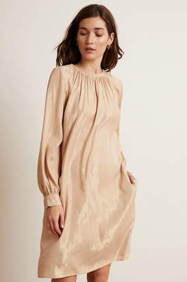 Velvet by Graham & Spencer Velvet By Graham Spencer Dasha Lame Long Sleeve Belted Dress
