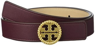 Tory Burch 1 Twisted Logo Belt (Port) Women's Belts
