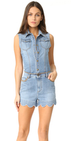RED Valentino Denim Scalloped Romper