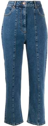 Aalto stitched panel tapered jeans