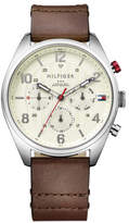 Tommy Hilfiger Mens Multifunction Ss Rou Case Parct Dial Brn Le S