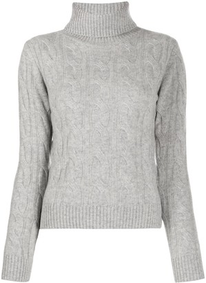 Snobby Sheep Cable Knit Roll Neck Jumper
