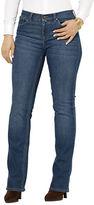 Lauren Ralph Lauren Plus Super-Stretch Classic Straight Harbor-Wash Jeans