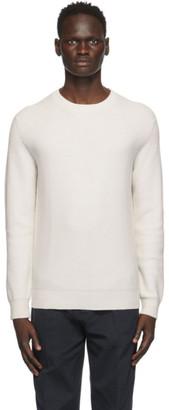 Ermenegildo Zegna Off-White Cashmere Honeycomb Sweater