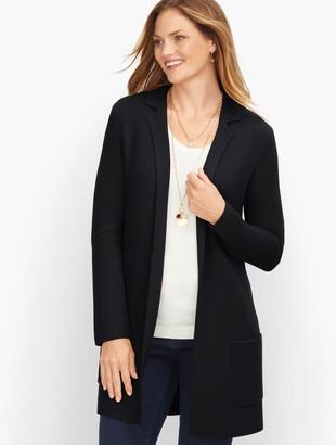 Talbots Milano Stitch Sweater Jacket - Solid