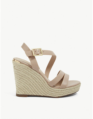 Carvela Summer faux-leather espadrille wedge sandals