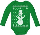 TeeStars Big Snowman Ugly Christmas Sweater - Xmas Baby Grow Vest Baby Long Sleeve Onesie