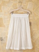 Free People Vintage White Eyelet Open Front Skirt