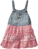 Osh Kosh Oshkosh Sleeveless Tiered Denim Skirtall - Baby Girls 3m-24m