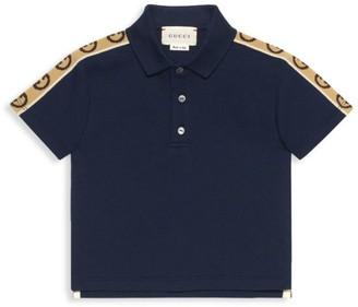 Gucci Baby Boy's G Striped Polo Shirt