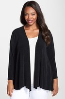 Vikki Vi Plus Size Women's Open Front Swing Cardigan