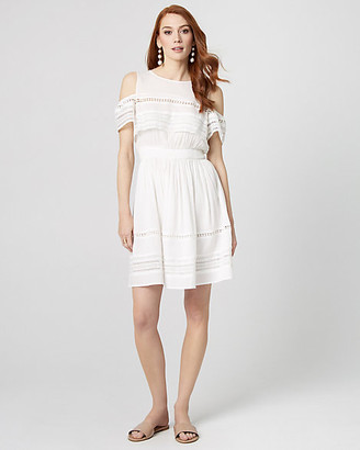 Le Château Cold Shoulder Ruffle Dress