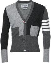 Thom Browne striped detail cardigan - men - Cashmere - 3