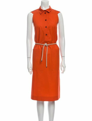 Hermes Midi Length Dress Orange