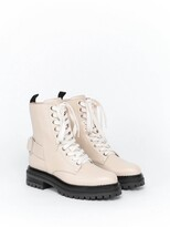 Thumbnail for your product : Sergio Rossi Buckled Lace-Up Boots