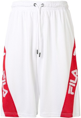 Fila Logo Embroidered Mesh Shorts