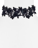 Vanessa Mooney Lovetta Cutout Beaded Floral Choker, 11""