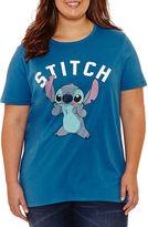 Freeze Short Sleeve Crew Neck Lilo & Stitch Graphic T-Shirt