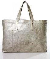 J.Crew J Crew Gold Tone Open Top Medium Sized Tote Handbag
