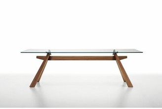 """LG Electronics Midj Zeus Dining Table with Glass Top Midj Size: 29.9"""" H X 78.7"""" W X 41.7"""" D"""