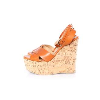Non Signé / Unsigned Non Signe / Unsigned Brown Leather Sandals