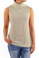 Backdrop Fashion Pointelle Turtleneck Sweater