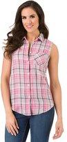 Haggar Women's Sleeveless Button-Down Shirt