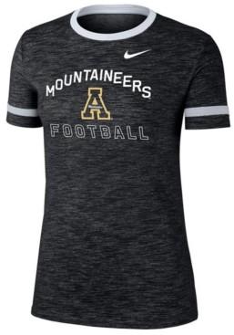 Nike Women's Appalachian State Mountaineers Slub Fan Ringer T-Shirt