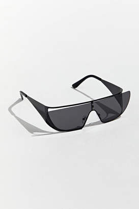 Urban Outfitters Metal Cutout Lens Wrap Sunglasses