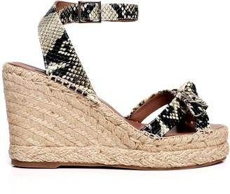 Tabitha Simmons Ross snake-effect wedge sandals