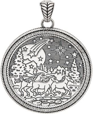 JAI Sterling Silver Spirit of Alaska Engraved Enhancer, 31.6g
