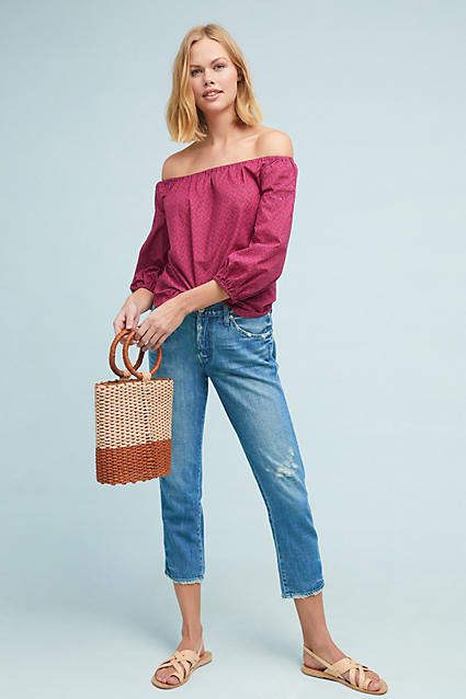 Amo Tomboy High-Rise Cropped Jeans