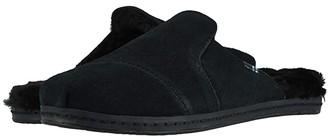 Toms Nova Leather Wrap (Black Suede/Faux Fur) Women's Shoes