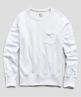 Todd Snyder + Champion Terry Pocket Sweatshirt in White