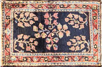 """One Kings Lane Vintage Antique Persian Sarouk Rug - 1'8"""" x 2'7"""" - Eli Peer Oriental Rugs - red/blue/multi"""