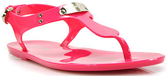 Michael Kors Michael by Plate Jelly - Rubber Flat Jelly Sandal in Pink