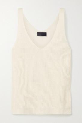 Nili Lotan Nala Open-knit Linen Tank - Cream