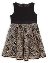 Milly Minis Toddler's, Little Girl's & Girl's Mixed-Media Dress