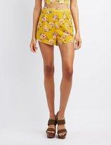 Charlotte Russe Floral Fluttery Shorts