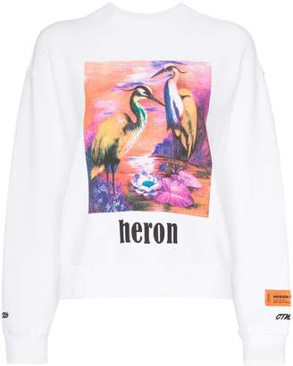 Heron Preston Heron bird print cotton sweatshirt