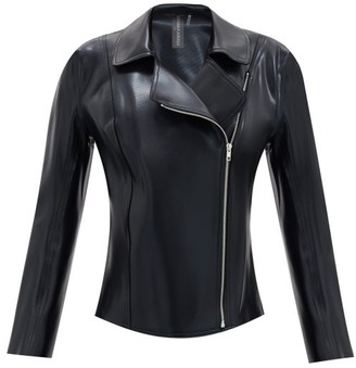 Norma Kamali Gang Faux-leather Jacket - Black
