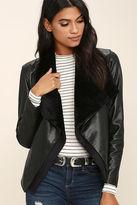 BB Dakota James Black Vegan Leather Jacket