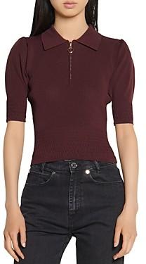 Sandro Nami Half Zip Sweater