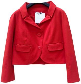 Paule Ka Orange Cotton Jacket for Women