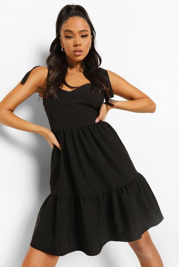 boohoo Scoop Back Strappy Swing Dress
