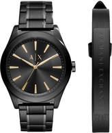 Armani Exchange A X Men's Stainless Steel Bracelet Watch 44mm AX7102 Gift Set