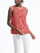 Banana Republic Floral Pleat Layer Top